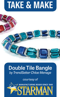Pattern Mini : Double Tile Bangle by Chloe Menage (50 Copies per Pack)