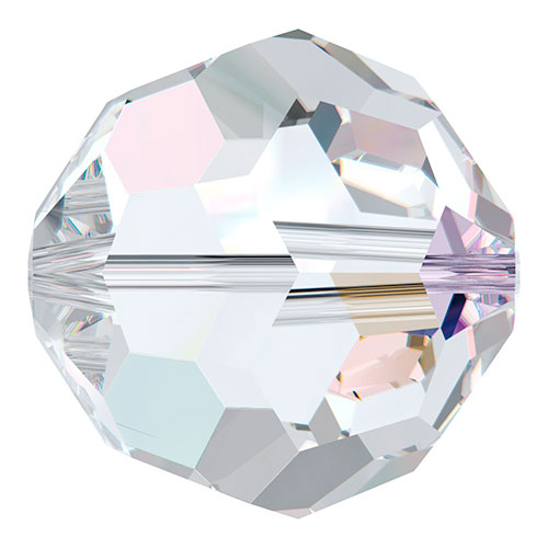 Swarovski : 5000 8mm Faceted Round - Crystal AB