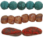 Stone Picasso Pressed Beads