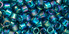 TOHO Aiko (11/0) : Transparent Teal Rainbow 50g