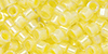 TOHO Aiko (11/0) : Yellow-Lined Crystal 50g