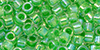 TOHO Aiko (11/0) : Grass Green-Lined Crystal Rainbow 50g