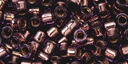 TOHO Aiko (11/0) 4g Pack : Copper-Lined Amethyst