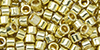 TOHO Aiko (11/0) : PermaFinish - Galvanized Yellow Gold 50g