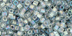 TOHO Cube 1.5mm : Transparent-Rainbow Black Diamond
