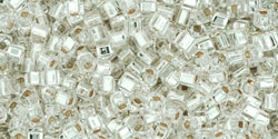 TOHO - Cube 1.5mm : Silver-Lined Crystal