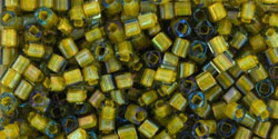 TOHO Cube 1.5mm : Inside-Color Luster Black Diamond/Opaque Yellow-Lined