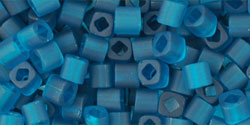 "TOHO Cube 3mm Tube 5.5"" : Transparent-Frosted Teal"