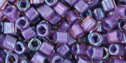 "Cube 3mm Tube 2.5"" : Inside-Color Rainbow Rosaline/Opaque Purple-Lined"