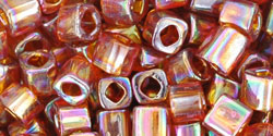 TOHO Cube 4mm : Transparent-Rainbow Smoky Topaz