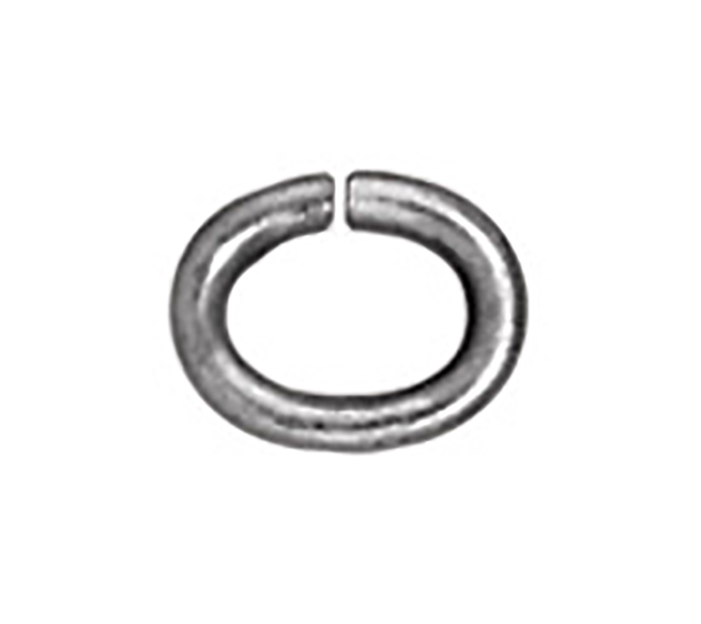 TierraCast : Jumpring - Medium Oval 20 Gauge, Rhodium-Plated