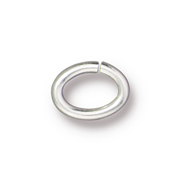 TierraCast : Jumpring - Large Oval 17 Gauge, Silver-Plated