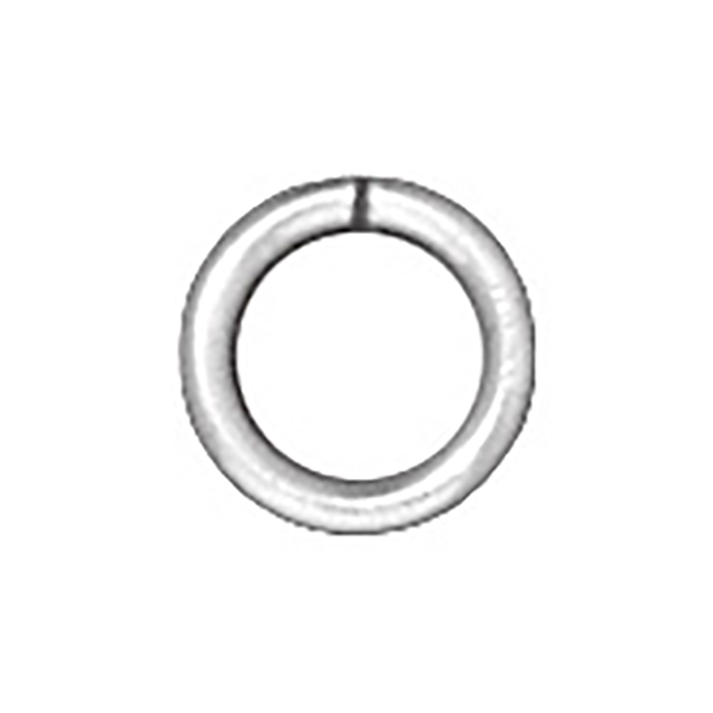 TierraCast : Jumpring - 4 mm Round Brass 20 Gauge, Silver-Plated