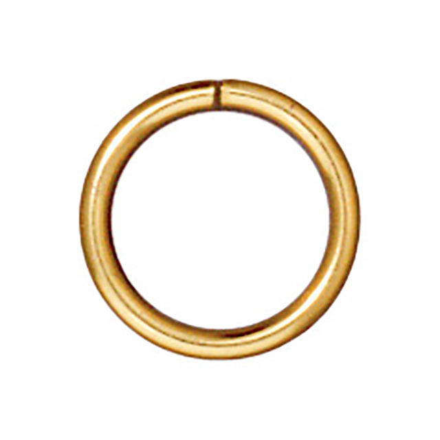 TierraCast : Jumpring - 8 mm Round 18 Gauge, Gold-Plated