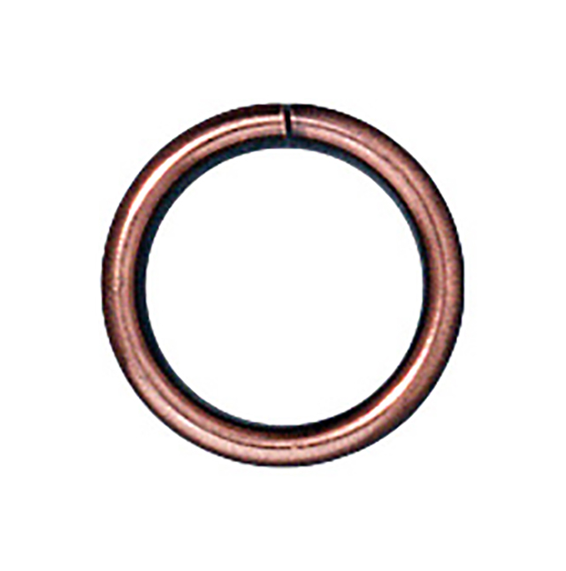 TierraCast : Jumpring - 8 mm Round 18 Gauge, Solid Copper