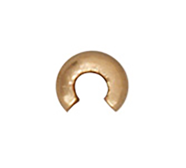 TierraCast : Crimp Cover - 3 mm, Gold-Plated
