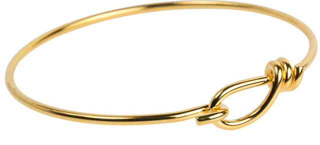 TierraCast : Wire Bracelet - 62 mm ID, 12 Gauge, Gold-Plated