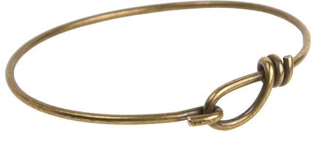 TierraCast : Wire Bracelet - 62 mm ID, 12 Gauge, Brass Oxide