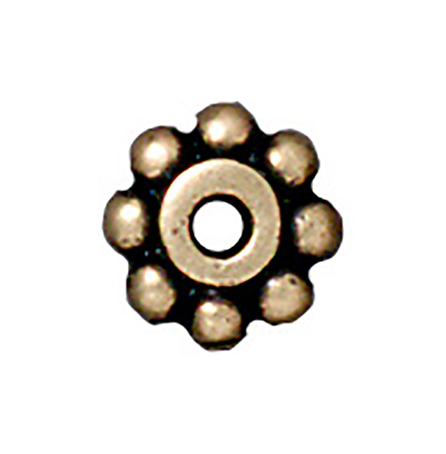 TierraCast : Heishi - 6 mm Beaded, Brass Oxide
