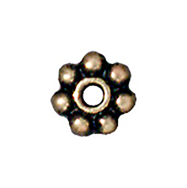 TierraCast : Heishi - 4 mm Beaded, Brass Oxide