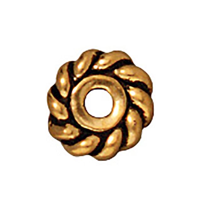 TierraCast : Heishi - 6 mm Twist, Antique Gold