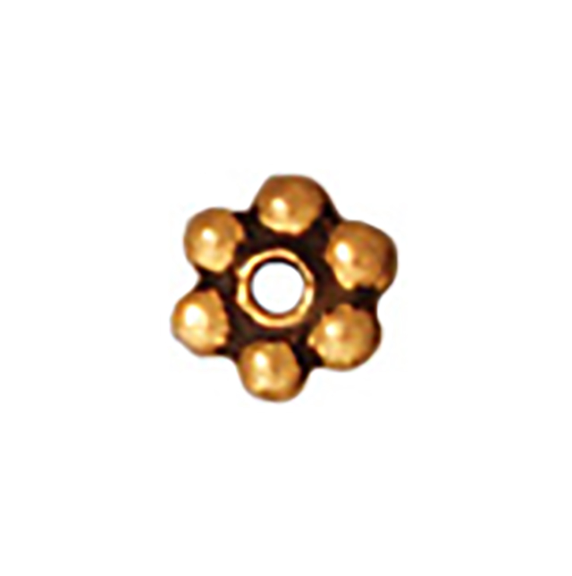 TierraCast : Heishi - 3 mm Beaded, Antique Gold