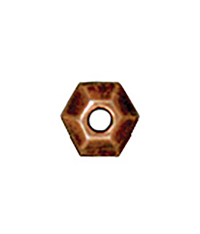 TierraCast : Heishi - 3 mm Faceted, Antique Copper
