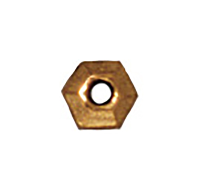 TierraCast : Heishi - 3 mm Faceted, Antique Gold