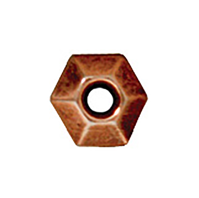 TierraCast : Heishi - 5 mm Faceted, Antique Copper