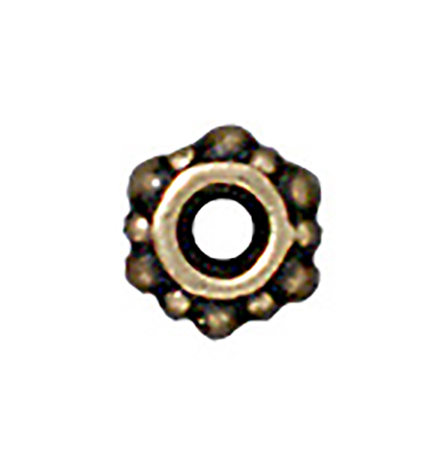 TierraCast : Spacer Bead - 4.5mm Small Turkish, Brass Oxide