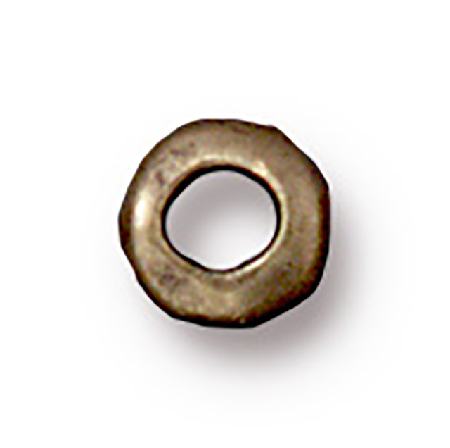 TierraCast : Heishi - 5 mm Nugget with 2 mm ID, Brass Oxide