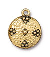 TierraCast : Charm - 19 x 16mm, 1.7mm Loop, Opulence, Antique Gold
