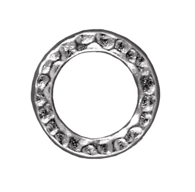 TierraCast : Link - 13mm, 8.7mm Hole, Medium Ring, Rhodium