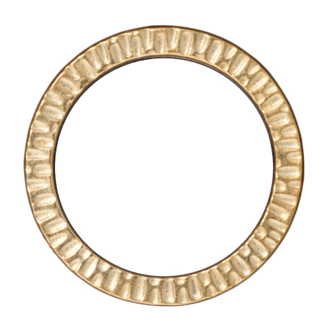 "TierraCast : Link - Radiant 1 1/4"" Ring, Gold"