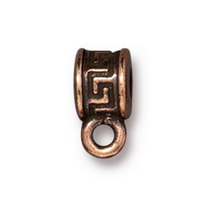 TierraCast : Spacer Bail - Meandering, Antique Copper