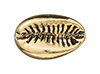 TierraCast : Bead - Cowrie Shell, Antique Gold