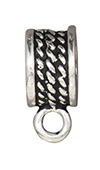 TierraCast : Bail - 8mm Rope, Antique Silver