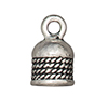 TierraCast : Cord End - 5mm Rope, Antique Silver