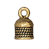 TierraCast : Cord End - 5mm Rope, Antique Gold