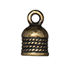 TierraCast : Cord End - 5mm Rope, Brass Oxide