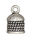 TierraCast : Cord End - 8mm Rope, Antique Silver