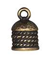 TierraCast : Cord End - 8mm Rope, Brass Oxide