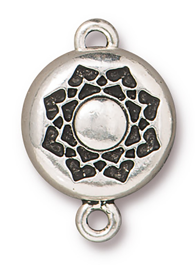 TierraCast : Magnetic Clasp Set - 14.5mm, 1.8mm Loop, Lotus, Antique Silver