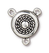 TierraCast : Magnetic Clasp Set - 15mm, 1.7mm Loop, Opulence, Antique Silver