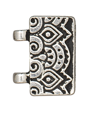 TierraCast : Magnetic Clasp Set - Temple Stitch-In, Antique Silver