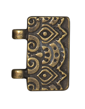 TierraCast : Magnetic Clasp Set - Temple Stitch-In, Brass Oxide