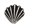 TierraCast : Button - Scallop Shell, Antique Silver