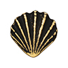 TierraCast : Button - Scallop Shell, Antique Gold
