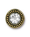 TierraCast : Button - Beaded Bezel with Swarovski SS34 Crystal, Antique Gold