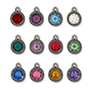 TierraCast : Drop Charm - SS34 Beaded Birthstone Mix (36pcs), Antique Pewter